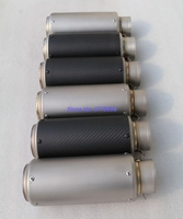 Customized ID 51mm 54mm 57mm 61mm 63mm 65mm Titanium Alloy Motorcycle Exhaust Pipe Muffler With Carbon