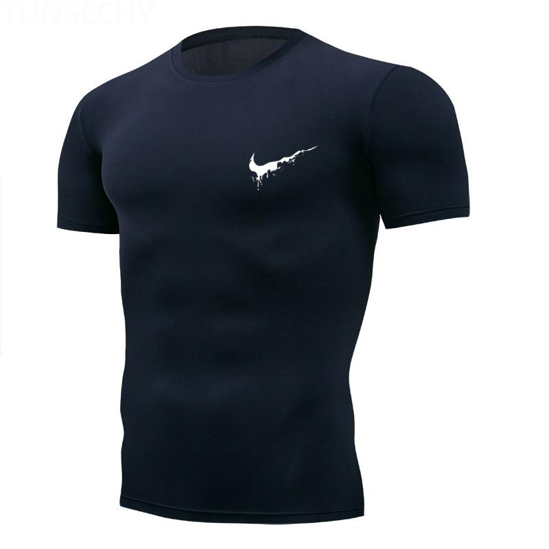 Gym T-Shirt Sportswear Jogger Train Rashgard Dry-Fit Fitness Mens Short-Sleeve Man