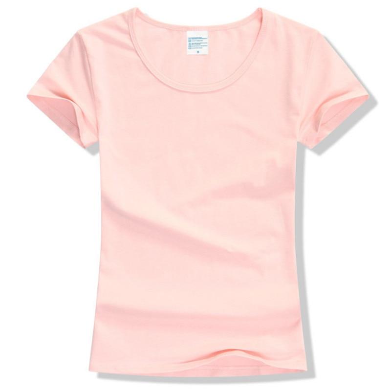 2017 Summer High Quality 15 Color S-2XL Plain T Shirt Women Cotton Elastic Basic Tshirt Woman Casual Tops Short Sleeve T-shirt