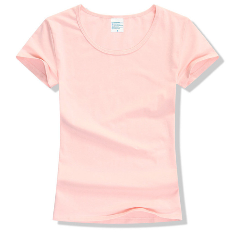 Verano de 2017 de alta calidad de 15 Color S-2XL llano T camisa de las mujeres Camiseta básica de algodón elástico Mujer Casual Tops de manga corta camiseta