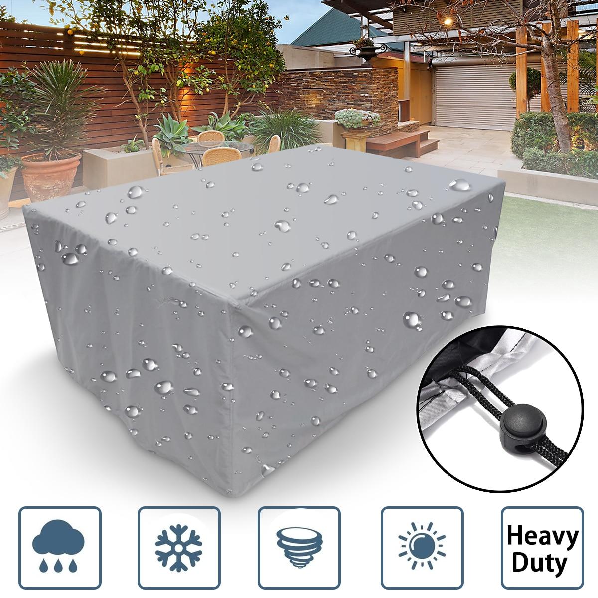 7 größe Outdoor Abdeckung Wasserdichte Möbel abdeckung Sofa Stuhl Tisch Abdeckung Garten Terrasse Strand Protector Regen Schnee Staubdicht