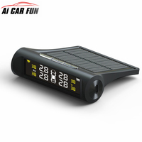 Nieuwe TPMS Auto Bandenspanningscontrolesysteem TP880 Lcd-scherm Auto Alarmsysteem Zonne-energie Diagnostic Tool 4 Externe Sensoren