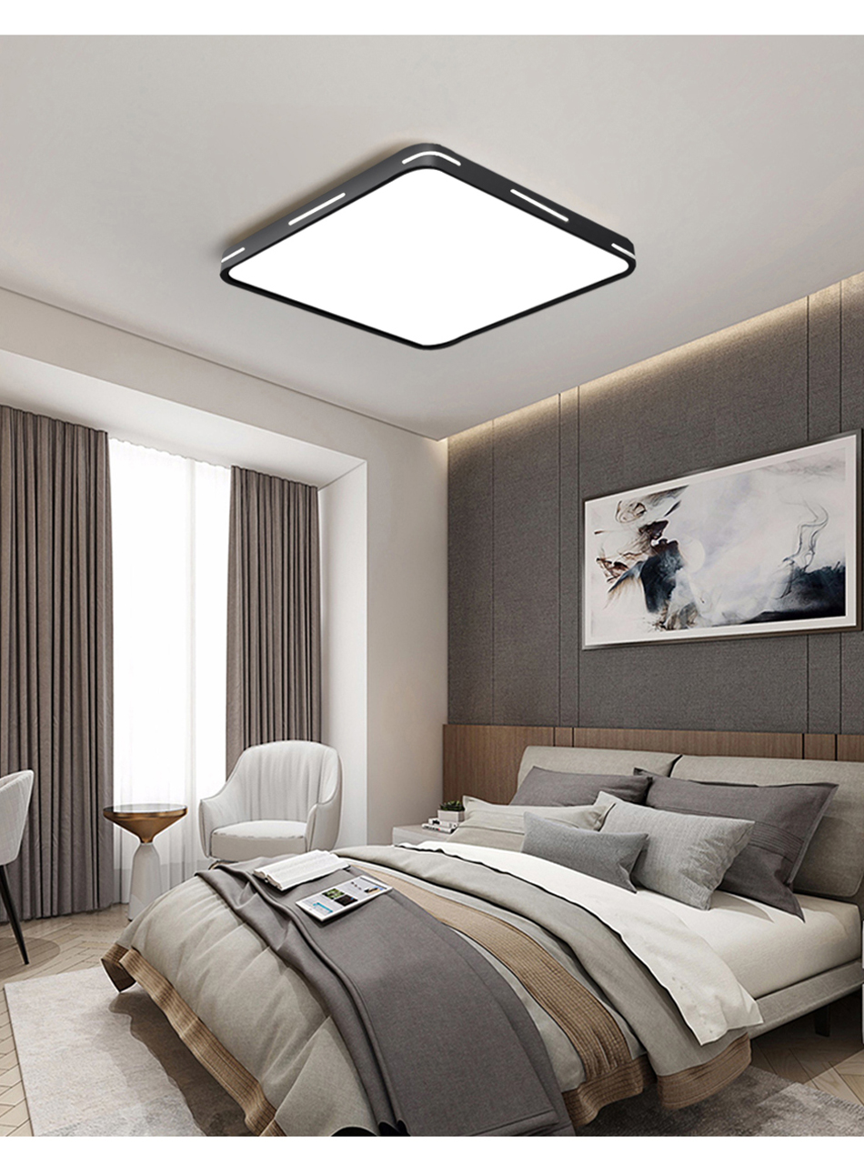 HTB1 dcTXQT2gK0jSZFkq6AIQFXan Modern LED Ceiling Light Lamp Lighting Fixture Surface Mount Flush Remote Control Dimmable 18W 48W Living Room Bedroom Balcony