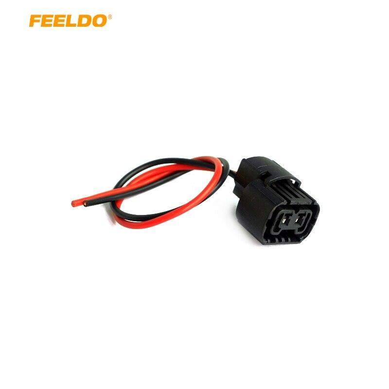 FEELDO 1 шт. автомобильный 5202 H16 2504 PS24W 5201 гнездовой разъем для противотуманных фар, проводка, свиной хвост, жгуты|Кабели, адаптеры и разъемы|   | АлиЭкспресс