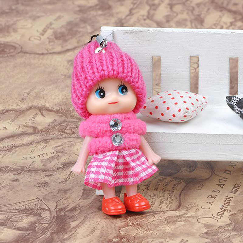1 Pc losowy kolor 8cm krata Clown mylić lalki mobilne wisiorek do telefonu dla dzieci Cute Cartoon dla dzieci Mini lalki zabawki darmowa wysyłka