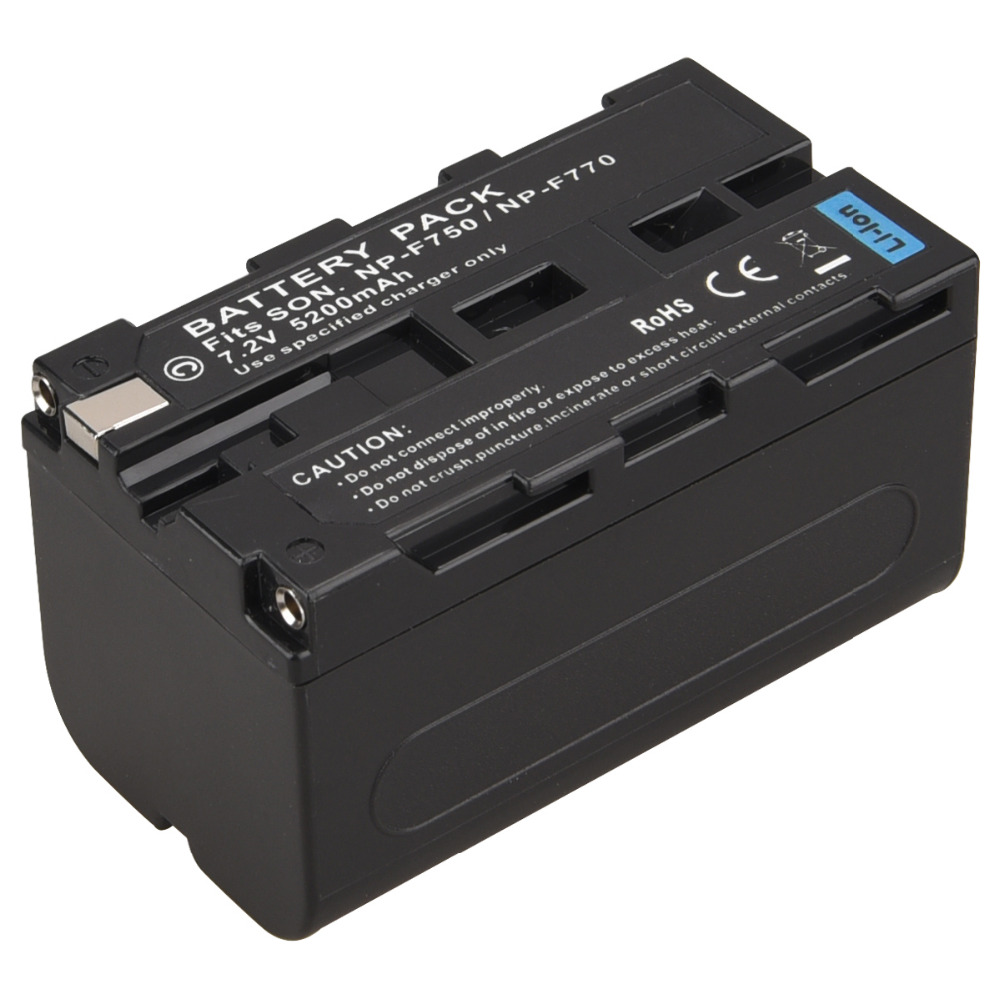 цена на For Sony NP-F750 NP-F770 5200mAh Rechargeable Digital Battery Pack NP F750 F770 NPF75 Camera Replacement Li-ion Batteria Bateria