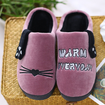 Women Slippers Winter New Couples Thick Bottom Warm Slippers Home Household Soft Bottom Confined Rugs Wool Slippers Shoes Slippers
