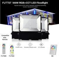 FUTT07 100W LED Floodlight IP65 waterproof RGB+CCT adjustment 2.4G wireless remote wifi cellpnone APP control LED Spotlight