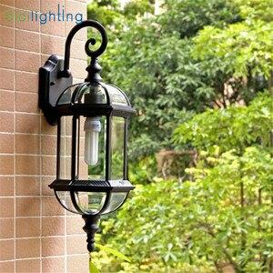 Image 4 - Luz de pared al aire libre, lámpara de pared del porche de la puerta delantera impermeable, aplique del hogar Decoración interior iluminación lámpara patio jardín