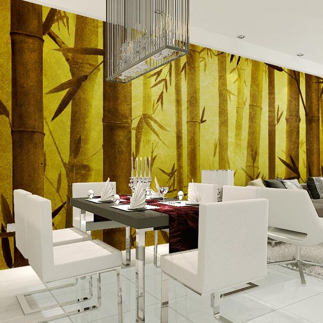 Home Decor Wall Papers 3D Living Room Bedroom TV Wall Paintings Gold ...