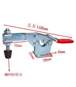 Image 2 - Houd Klemmen 2Pcs 225D 227Kg/500Lbs Holding Capaciteit Rod Arm Lasmachine Bediening Schimmel Metalen Horizontale toggle Klemmen