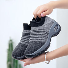 MWY Outdoor Flying Woven Running Shoes Sport Women Zapatillas Girl Breathable Increased Sneakers Walking