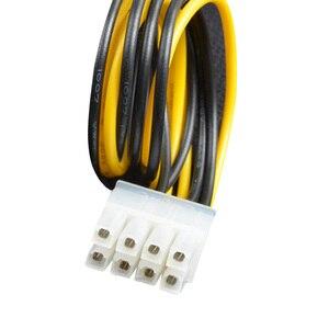 """Image 4 - Marsnaska Hot Koop 20 Cm 8 """"Inch 4 Pin Male Naar 8Pin Vrouwelijke Pc Cpu Voeding Verlengkabel cord Connector Adapter"""