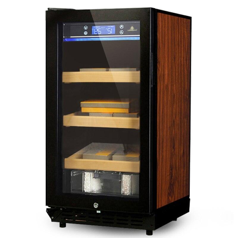 Cigar Cabinet Freezer Constant Temperature Wine Tea Humidor Three-Layer Parquet Luxury Cigar Storage Cabinet Fridge LF-9001
