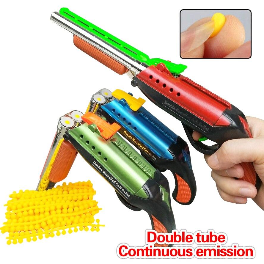 Entrega rápida duplo tubo de emissão contínua balas macias brinquedo arma balas terno para nerf brinquedo arma dardo perfeito terno para nerf arma