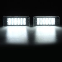 Easy Installation 2X Car LED LICENSE PLATE LIGHT Direct Installation DIY