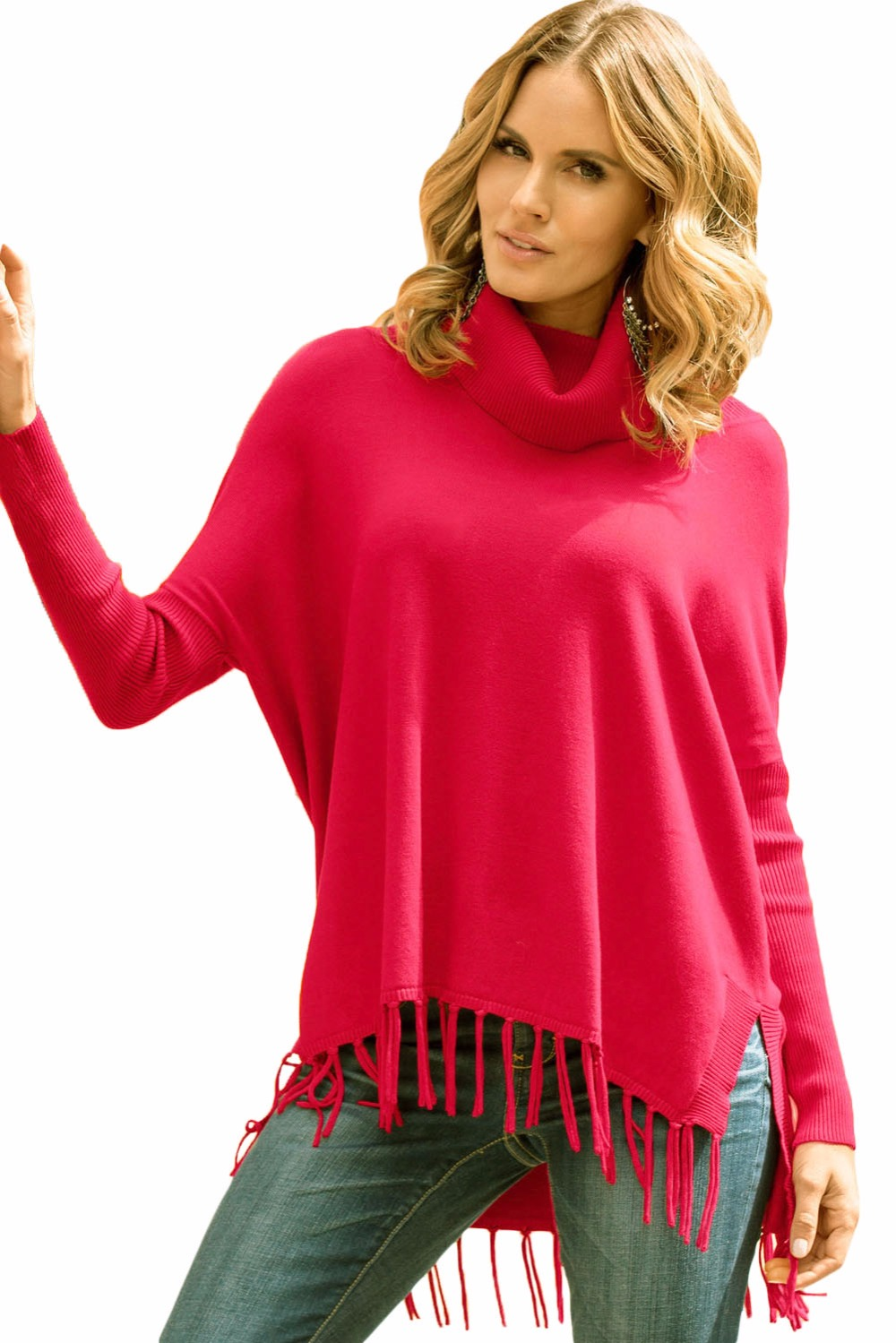 Fashion 2016 Winter Autumn Ladies Pullovers Red Grey Black ...