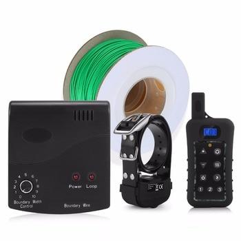 3 приемника электрическое ограждение для собак с перезаряжаемым ударным воротничком, проволока в земле, система удержания собаки