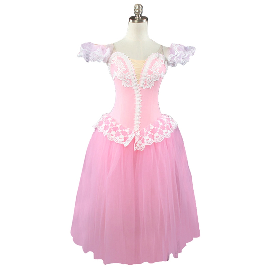 Adult pink peach romantic ballet tutu dress girls giselle ...