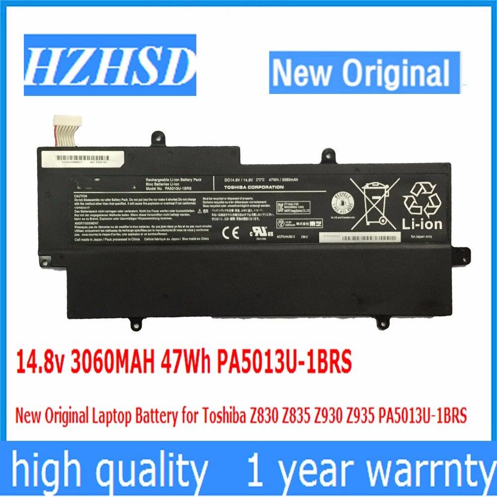14.8 v 3060 MAH 47Wh PA5013U-1BRS Nouvelle Batterie D'ordinateur Portable D'origine pour Toshiba Z830 Z835 Z930 Z935 PA5013U-1BRS