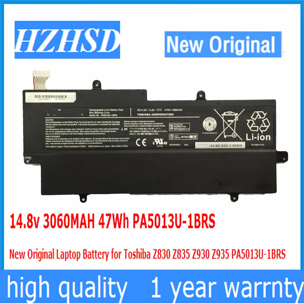 14.8v 3060MAH 47Wh PA5013U-1BRS New Original Laptop Battery for Toshiba Z830 Z835 Z930 Z935 PA5013U-1BRS 14 8v 47wh original laptop battery for toshiba z830 z835 z930 z935 pa5013u 1brs