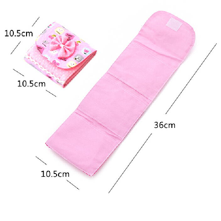 Купить с кэшбэком 1Pc 10.5*10.5cm Napkins Organizer Sanitary Napkins Pads Carrying Easy Bag Small Articles Gather Pouch Case Bag Girl/Women