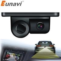2 In 1 Car Parking Sensors Rear View Backup Camera Universal High Clear Night Vision Reversing