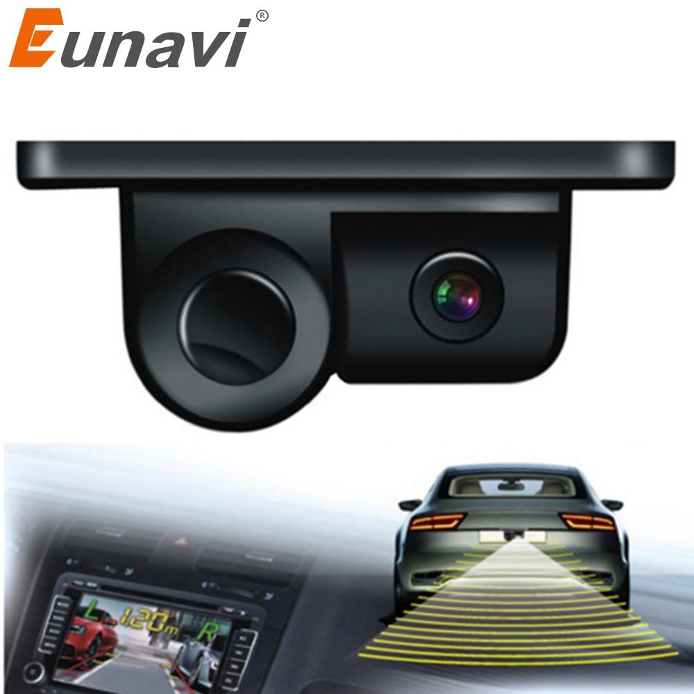 2019 Parktronic Eunavi 2 In 1 Car Parking Sensors Rear View Backup Camera Universal High Clear Night For Vision Reversing Radar