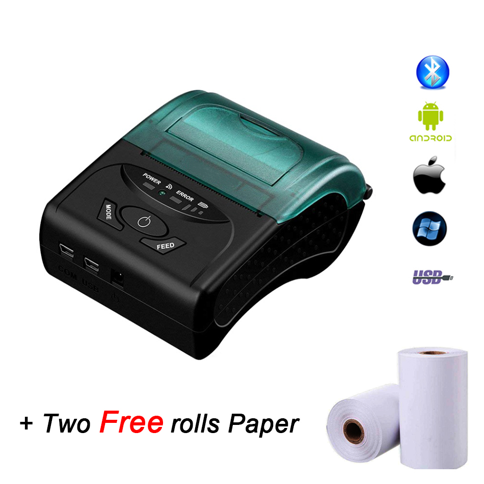 купить GZM5805 Free SDK 58mm Handheld Pos Printer Android iOS Bluetooth4.0 thermal printer receipt printer Mini Mobile Protable Printer онлайн