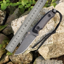Very sharp High-end Brush Finish DD9cr18mov Blade Fixed Tactical Knife,Three Edge Survival Knives Fixed Blade
