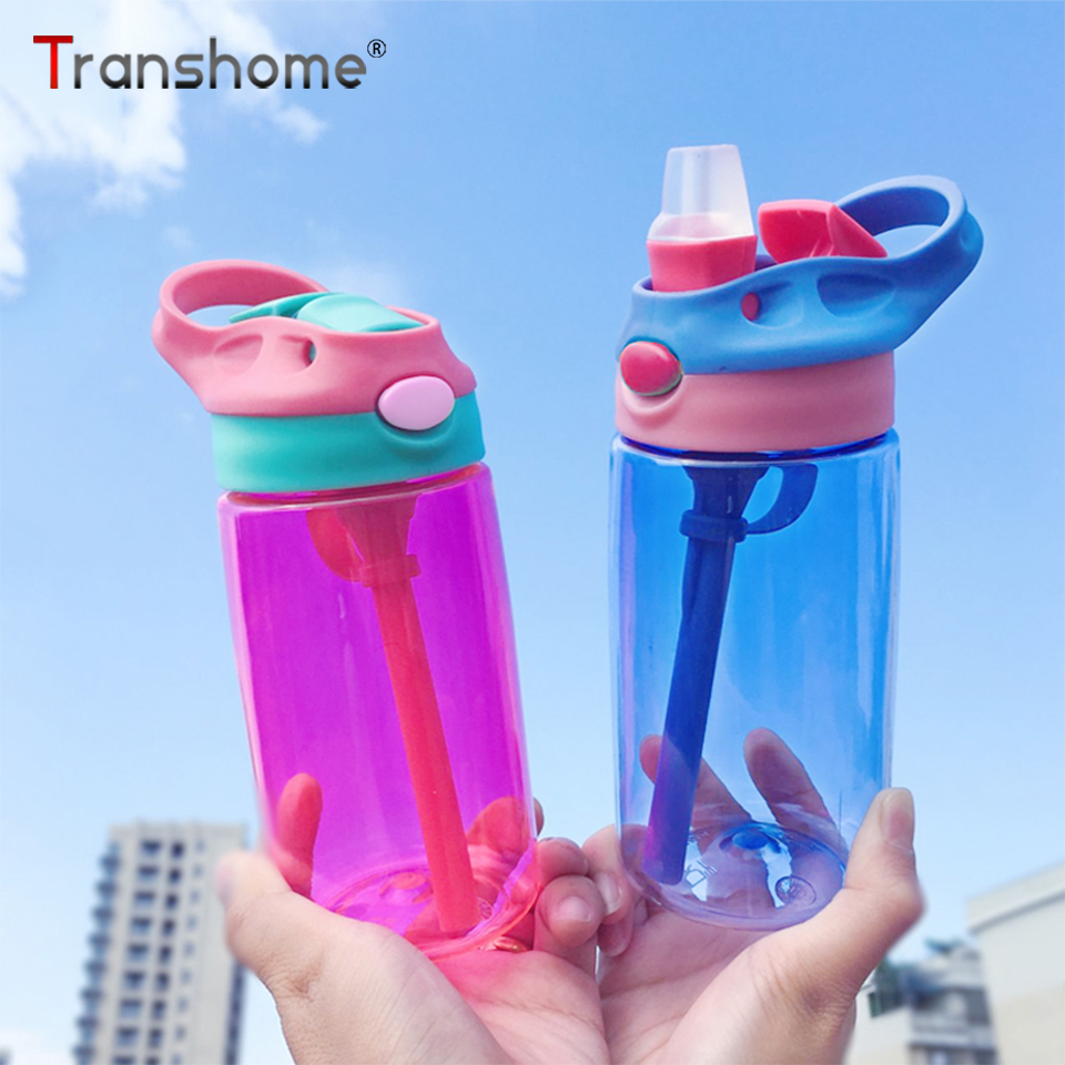 Transhome Tritan Water Bottle With Straw Kids Drinking Water Bottles For Children Kids Sports Water Bottle Bpa Free Drinkware|Water Bottles| |  - AliExpress