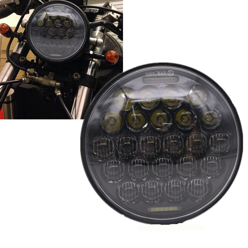 "5D Motorcycle 5.75Inch LED Headlight For Harley Davidson 883 Dyna Sportster Low Rider Triple Wide Glide Daymeker 5 3/4"" 72W"