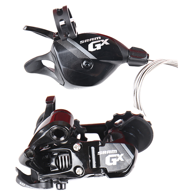 <font><b>SRAM</b></font> GX <font><b>10</b></font> <font><b>Speed</b></font> Shifter Lever Trigger Switch & Rear Derailleur Short Cage for 1x10 <font><b>Speed</b></font> only 36T max Black image