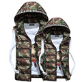 2017 Autumn and Winter Mens Vest Jacket Couple Camouflage Cotton Hooded Photographer Vest Thick Cotton Vests