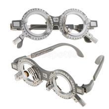 2 sztuk regulowany uniwersalny optyczny próbny obiektyw rama okulary optometria optyk optyczny Test próbny soczewki rama 62mm 58mm