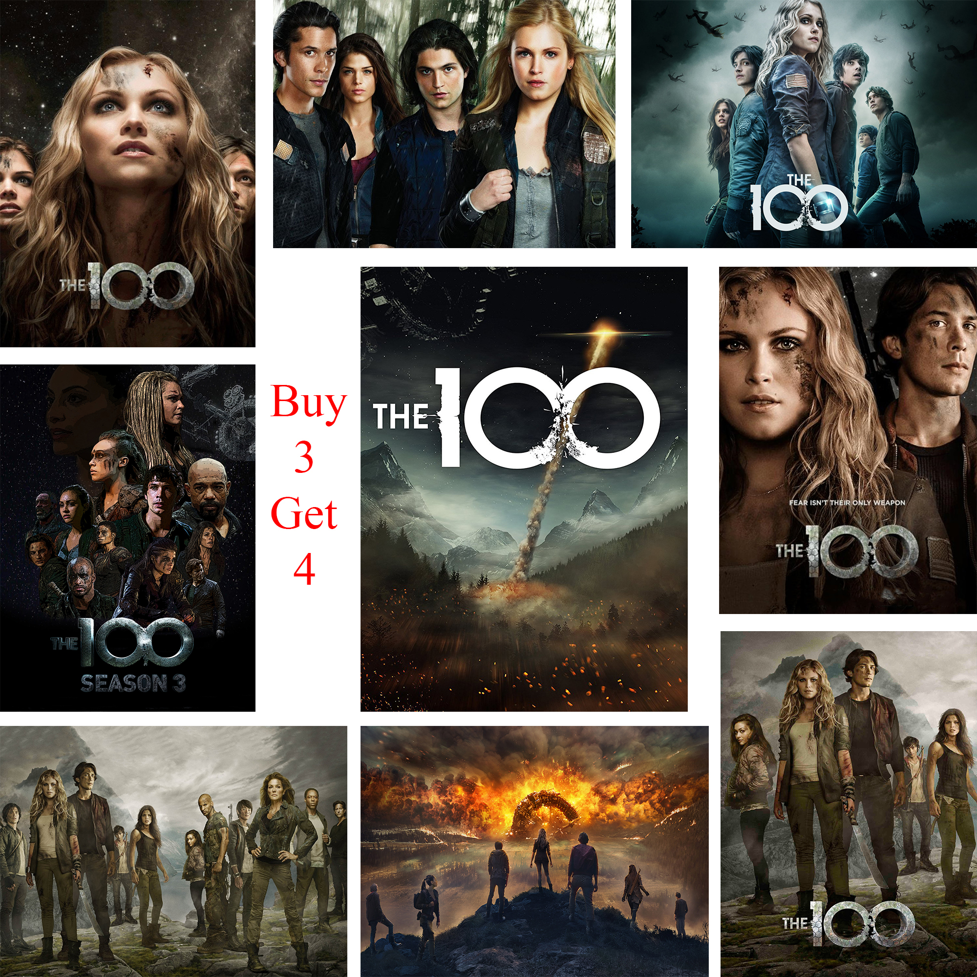 The 100 Posters Movie Wall Stickers White Coated Paper Prints Clear Image Home Decoration Livingroom Bedroom Bar Home Art Brand