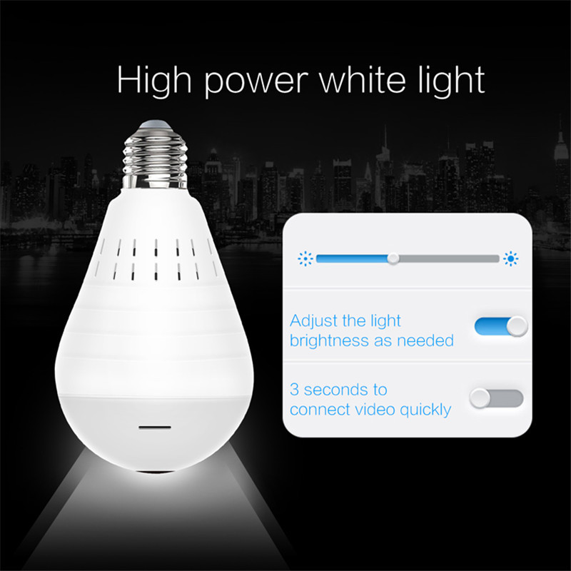 Image 4 - Home Surveillance Camera IP Camera 1080P LED Ligh Wireless Panoramic Fisheye Bulb Lamp WIFI Camera 360 Degree WiFi CCTV cam-in Surveillance Cameras from Security & Protection