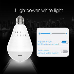 Image 4 - Home Surveillance Camera IP Camera 1080P LED Ligh Wireless Panoramic Fisheye Bulb Lamp WIFI Camera 360 Degree WiFi CCTV cam