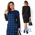 5xl 6xl tamanho grande primavera 2017 winter dress tamanho grande xadrez impresso dress hetero dress plus size mulheres roupas casuais vestidos