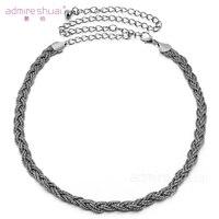 New Design 3 Colors Chain Belts For Women Gold Silver Gun Metal Ceinture Femme Apparel Accessories