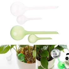 OOTDTY System samo podlewania sztuczna szklane do podlewania roślin automatyczne urządzenie Ball kroplówka dla rośliny doniczkowe rośliny doniczkowe tanie tanio Puszki wody Q1FD0658 Wodnik roślinny Small Large 13x5cm(5 12x1 97in)(length x diameter) 26x8cm(10 24x3 15in)(length x diameter)