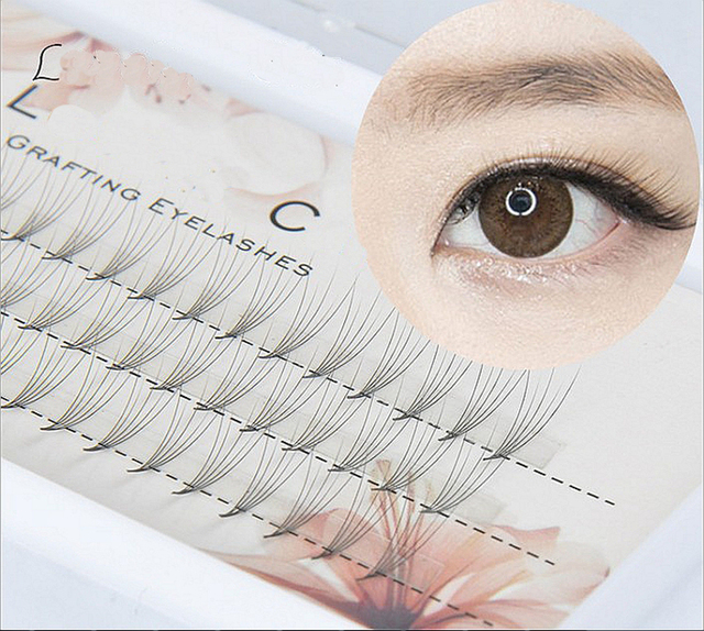 0b7d34ed5f1 1box Volume 5D Eyelash Extensions 0.07mm Thickness Hair Mink Strip  Eyelashes Individual Lashes Fans Lash Natural Style 8/10/12mm
