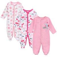 Mother Nest 2017 New Baby Boy Clothes 3pcs Newborn Baby Romper Body Girl Sleepwear Jumpsuit Cotton