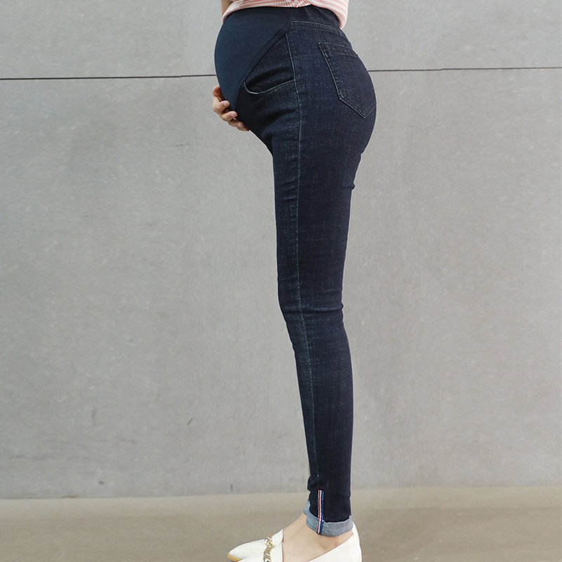 Maternity Skinny Jeans Pregnant Pencil Jeans Pregnant Women Elastic Waist Pencil Pants Maternity Pregnancy Clothing H71 liva girl spring women low waist sexy knee hole skinny jeans brand fashion pencil pants denim trousers plus size ripped jeans