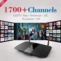 HD Android Caixa de TV Inteligente Quad Core Set top Box HD com 1700 Canal Livre para A Europa Itália Alemanha Francês Árabe IPTV Media Player