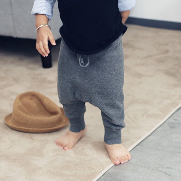 Toddler baby boys girls baggy harem pants Children Autumn Knitted cotton loose crotch trousers Kids casual