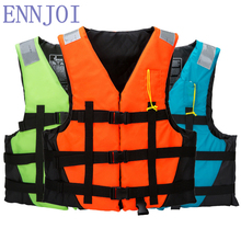 S-XXXL Size Polyester Professional Adult Life Jacket Water Sport Swimming Drifting Surfing Boating Ski Swimwear Life Vest