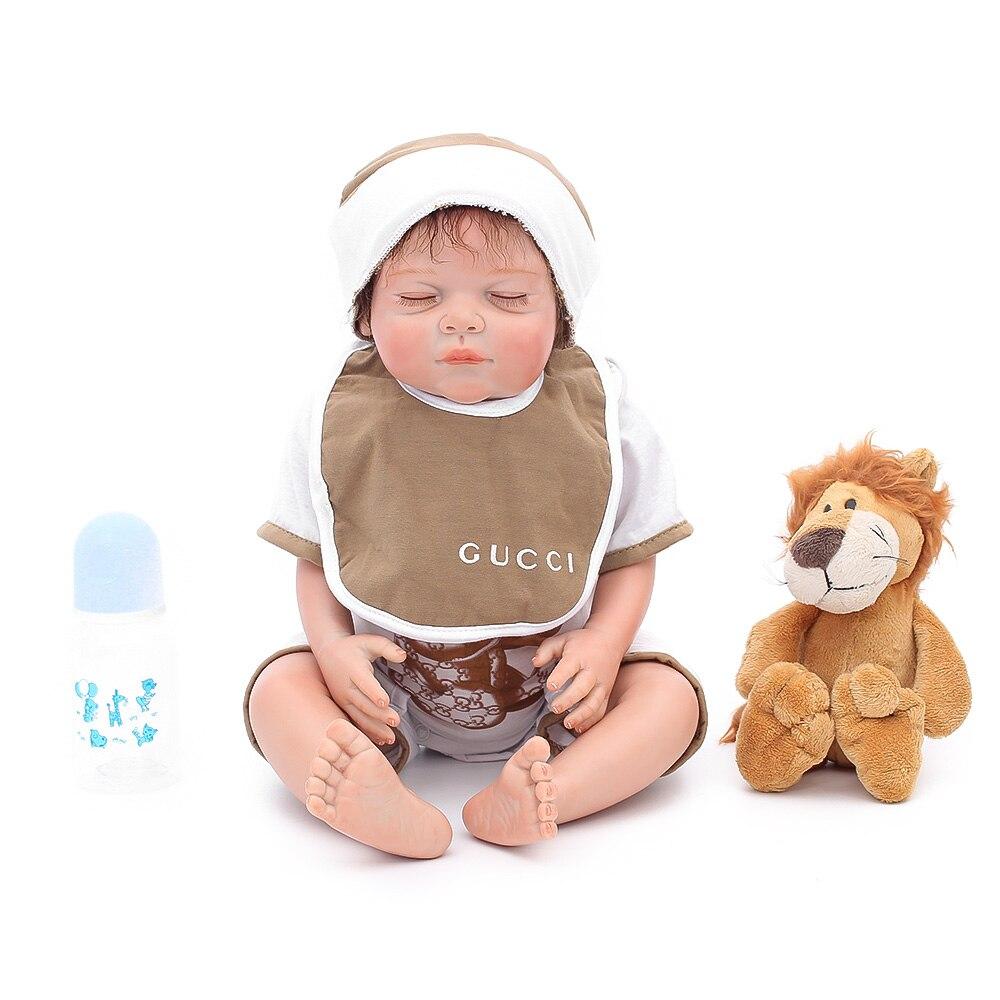 "20/"" Real Touch Soft Full Body Silicone Reborn Baby Boy Doll Newborn Infant Dolls"