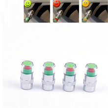 Car-styling Tire Accessories 4PC Auto Tire Pressure Monitor Valve Stem Caps Sensor Indicator Alert dropship 6.21(China)