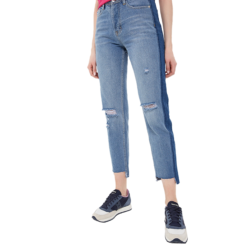 Jeans MODIS M181D00170 women pants  clothes apparel for female TmallFS цены онлайн